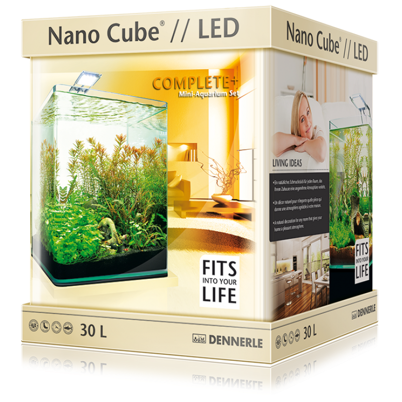 DENNERLE NanoCube Complete Plus 30 Litres  with Nano Power-LED 5.0