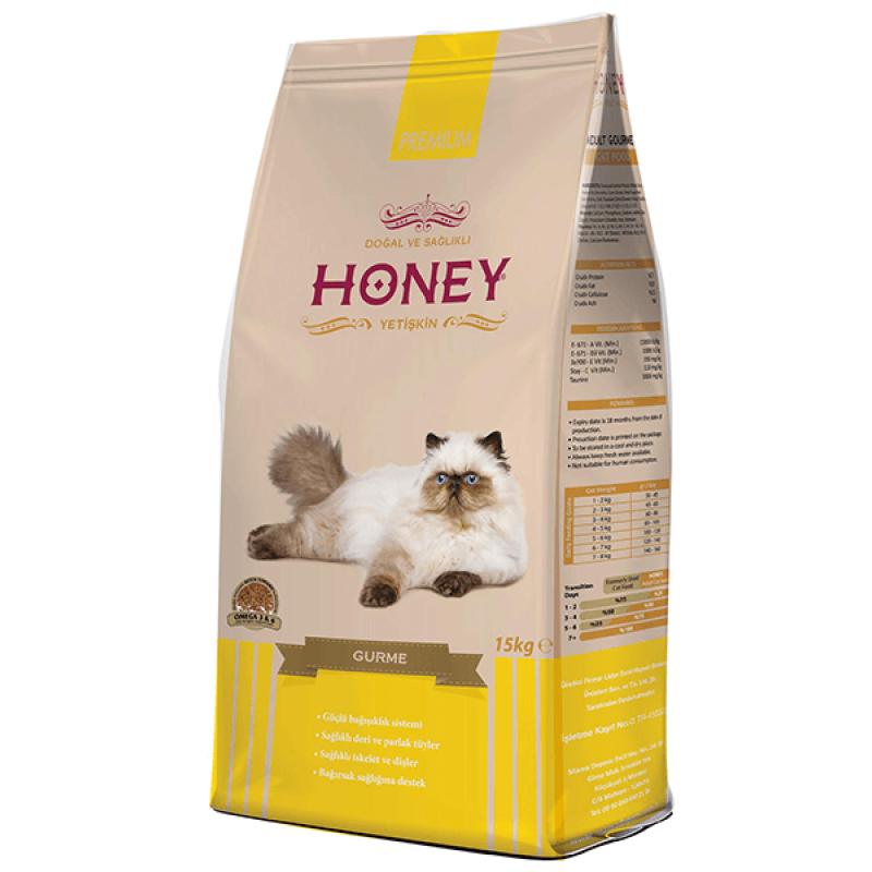 Honey Gurme Renkli Taneli Yetişkin Kedi Maması 15 Kg